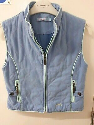 Joules Girls Blue Pink Padded Gilet Bodywarmer Sleeveless Jacket Size Age 6-7