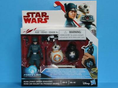 STAR WARS THE LAST JEDI Force Link Rose First Order & BB8 2 Pack 3.75 Inch - MIB