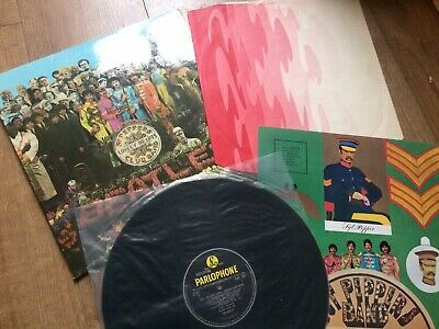 Beatles Sgt. Peppers Lonely Hearts Club Band Wide Spine Mono Uk 1967 Parlophone