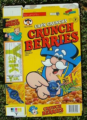 Cereal Cap'n Crunch's~Crunch Berries~Yak Time Offer~ Cereal Box