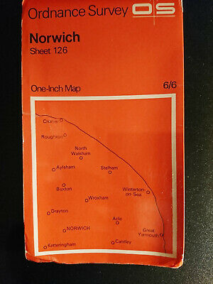 ORDNANCE SURVEY MAP - Norwich - 1 inch to 1 mile 1969 - Sheet 126
