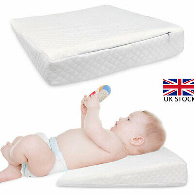 Baby Wedge Anti Reflux Colic Pillow Memory Foam Cushion Pram Crib Cot Bed UK