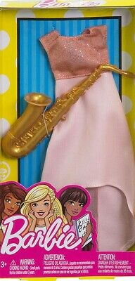 ~FKT15 Barbie FASHIONISTAS CAREERS I CAN BE Saxophone Player Musician Mattel