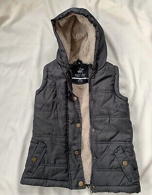 Beverly Hills Polo Club Puffer Vest With Hood Kids Size M (5/6) Gray