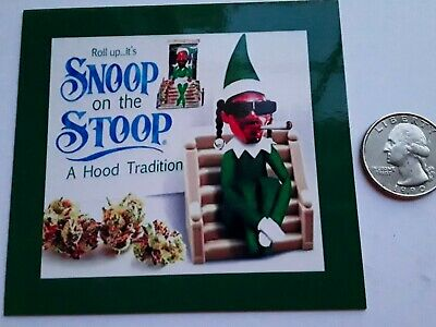 Snoop on a Stoop Magnet ☆ DEALERS CHOICE ☆ 3.5 X 3.5 inches ☆ LARGER VERSION