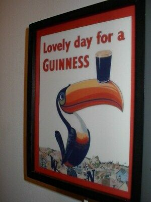 Guinness Toucan Irish Stout Beer Bar Man Cave Lighted Advertising Sign