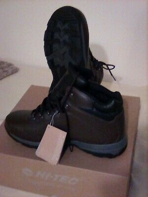 Hi-Tec UK 13 Light Weight WP Walking Boots- Dark Chocolate- Eurotrek III-New
