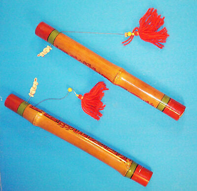 Sillent Mora (Louis McCord) Chinese Sticks-1949-Bamboo-Gift to Jerry Fields-Af
