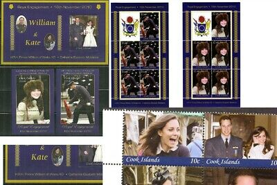 COOK IS. - William & Kate ROYAL WEDDING (NEVER HINGED) cv$113.00