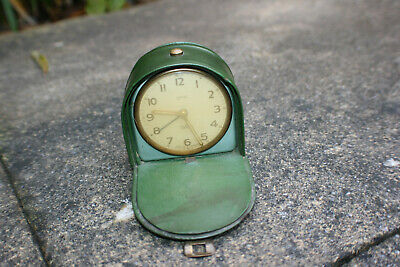 Vintage SMITHS 7 Jewels Travel Alarm Clock - Made in England - Working