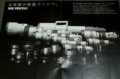 PENTAX 35mm Lens and accessories - Vintage film camera catalogs Japanese WOW!