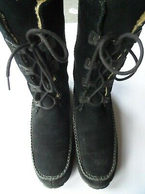 Timberland Fauna Black Suede Warm Lined Boots-Sz 7.5 Uk/41 Eu/9.5 Us Excellent