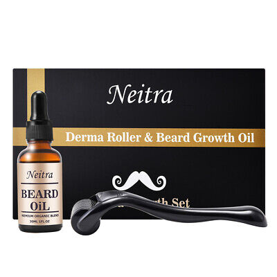 Beard Growth Oil+ Derma Roller for Beard Growth Beard Oil Kit Black Friday Deal