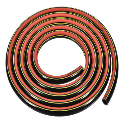 PVC Air Hose 3/8 Inch x 9.8 Feet Lightweight Compressed Air Hose Black and Red