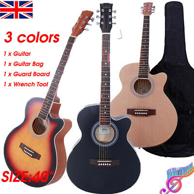 "40"" CLASSIC 6 STRINGS ACOUSTIC GUITAR with Pick BOYS GIRLS MUSIC GIFTS Beginner"
