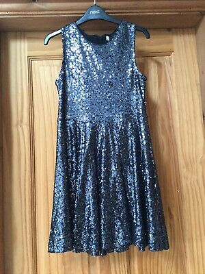 Marks and Spencer girls pretty Black sequin party/Christmas dress age 9-10