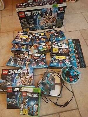 Mixed LEGO Dimensions XBOX 360 Starter Pack & Box & Lots Figures inc Game & more