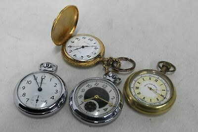 Collection 4 pocket watches - West End Watch Co., Ingersoll, Stantima
