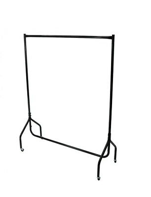 BRAND NEW 4ft Garment Clothes Rail Super Heavy Duty All Metal Black