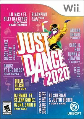 Wii Just Dance 2020 Nintendo Standard Edition Features 40 Tracks NEW SEALED