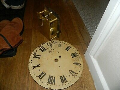 Chain Driven Fusee Clock Movement Swinden & Sons Birmingham Backplate Stamped