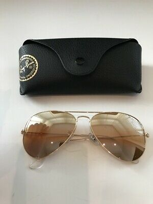 Ray-Ban Aviator Sunglasses 3025 001 3F Gold Frame/brown Gradient Lens DAMAGED!!!