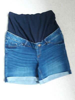 Peacocks over the bump maternity shorts - size 10