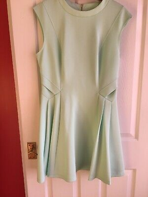 Ted Baker Ladies Mint Green Dress Size 4 14
