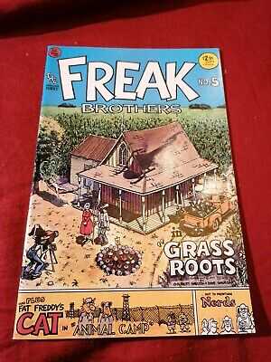 """THE FREAK BROTHERS No. 5 """"Grass Roots"""" (1988) RIP OFF PRESS, TOP-Zustand 0-1"""