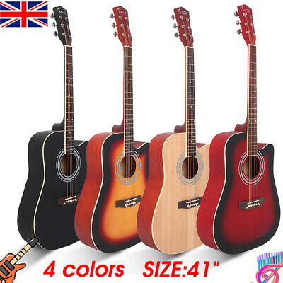 "41"" CLASSIC Beginner ACOUSTIC GUITAR 6 STRINGS with Pick BOYS GIRLS MUSIC GIFTS"