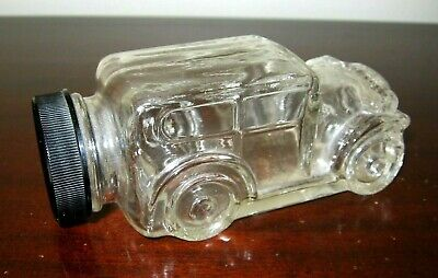 AUTOMOBILE CANDY CONTAINER - Vintage Pressed Glass - Mint, Perfect!