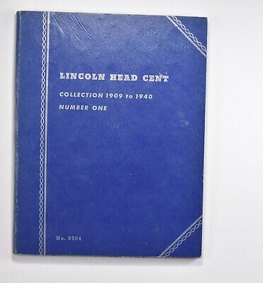 Partial Set 1909-1940 Lincoln Wheat Cent Album - Early Dates Collection *697