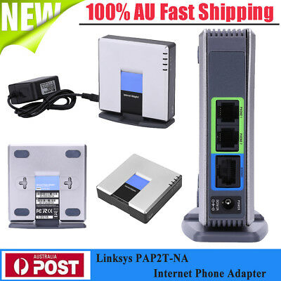 UNLOCKED CISCO LINKSYS PAP2T PAP2T-NA SIP VOIP Phone Adapter 2 Port Gateway HOT