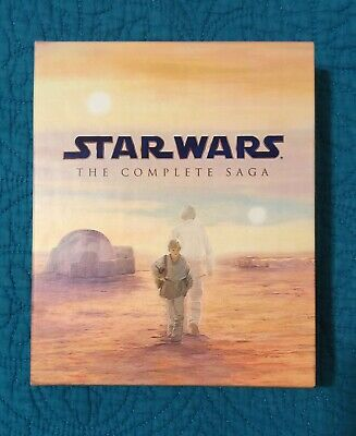 Star Wars The Complete Saga Blu Ray 9 Disc Set Phantom Clones Empire Jedi
