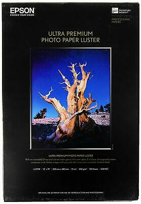 """Epson Ultra Premium Photo Paper Luster S041407 (13 x 19"""", 50 Sheets) A3+"""