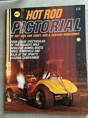 1970 Hot Rod Drag Racing Pictorial Magazine No. 4 Funny Car VW NHRA Color Annual