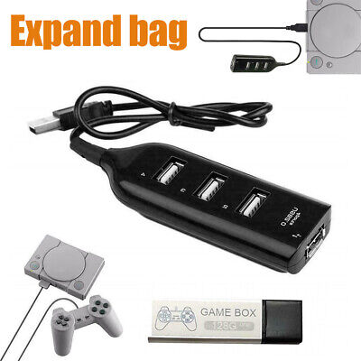 NEW 128G PS1 True Blue Mini Crackhead Pack For Playstation Built-in 7000 Games