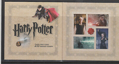 Usa 2013 Harry Potter 20 First Class Forever Stamps Booklet