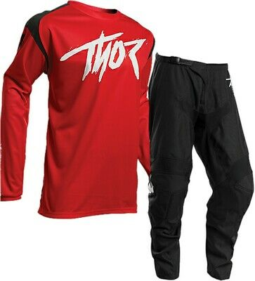 Thor 2020 Sector Link Race Kit Suit Black Red Motocross Mx Cheap All Sizes