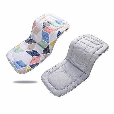 Baby Seat Liner for Stroller, Baby Car Seat Pad 31''x 13'' (Pink Polygon + Gray)