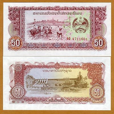 1979 1;5;10;20;50;100 Kip SET Lao // Laos Picks 25-26-27-28-29-30 UNC ND