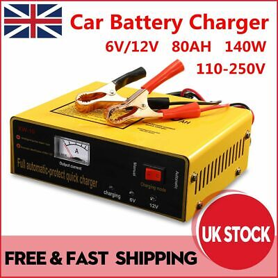 Car Battery Charger 6V/12V 80AH 140W PWM Auto Intelligent Negetive Pulse  ☆ UK