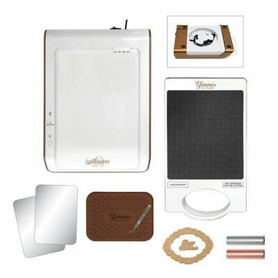 New Spellbinders Glimmer Hot Foil System Stamp Press Machine with Accessories