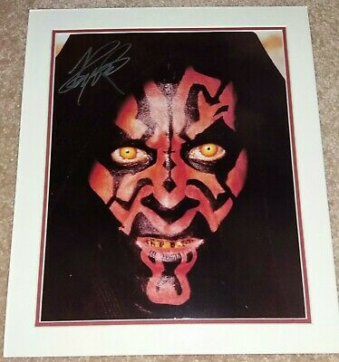 Star Wars Signed Ray Park As ' Darth Maul ',  A Very Nice Piece !