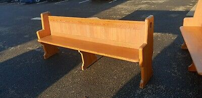"Pitch Pine Church Pew / Settle /  Bench 87"" Wide (6 Available) Del Avail"