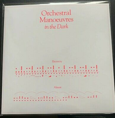 """ORCHESTRAL MANOEUVRES IN THE DARK ELECTRICITY CLEAR VINYL 7"""" 2019 OMD omd"""