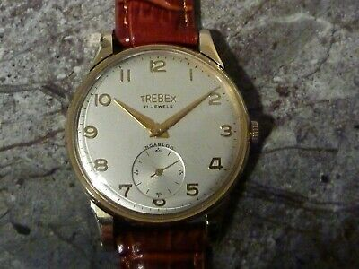 Large Boxed 9Ct Gold Stanton & Staveley Presentation 21 Jewel Wristwatch
