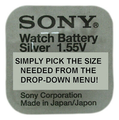 Genuine SONY / MURATA Silver Oxide Watch Battery Japan 1.55v- ALL SIZE SHOWCASE!