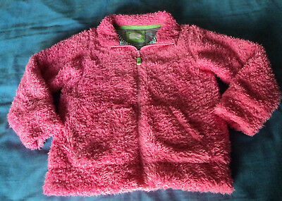 Mini Boden. Pink Zip Front Faux Furry Look Jacket. Age 7-8 years.
