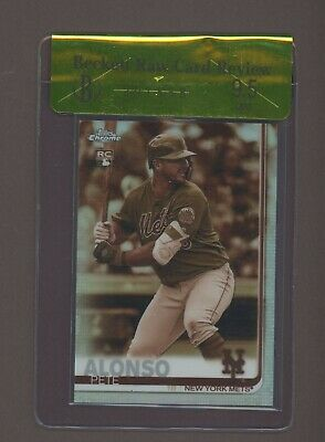 2019 Topps Chrome Sepia Refractor Pete Alonso Mets RC Rookie BGS 9.5 RCR